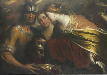 Queen Tomyris with the head of