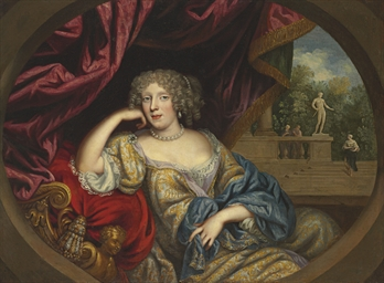 Portrait of a lady, seated thr