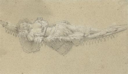 A woman resting on a hammock