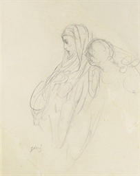 A study of the Virgin (recto a