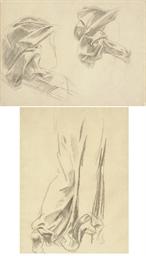 Drapery studies for murals at