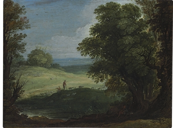 A landscape with shepherds and