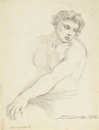 A study of a man, half-length