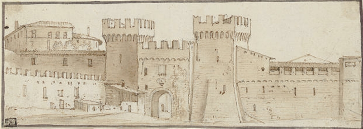 The fortified gate of an Itali