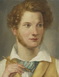Portrait of a young man, head