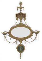 A late Victorian giltwood oval