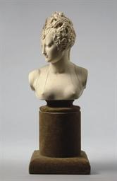 An ivory bust of Diane de Poit