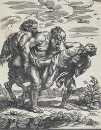 Silenus accompanied by a saytr
