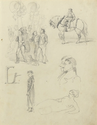 A sheet of sketches including