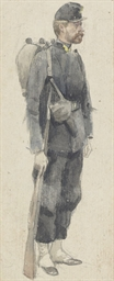 A soldier carrying a rifle (re