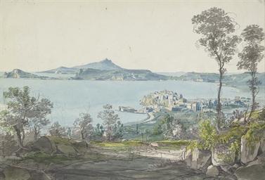 A view of Pozzuoli with Ischia