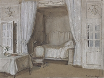 The interior of a bedroom
