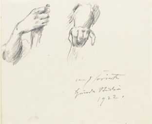 Study of two hands; and Three