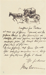 A sketch of a horse-drawn carr