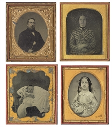 A group of eight portraits
