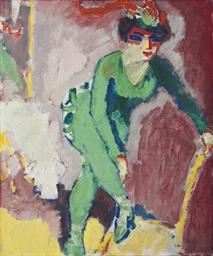 La femme au collant vert