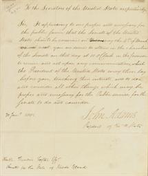 ADAMS, John (1735-1826). Lette