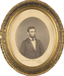 LINCOLN, Abraham. Oval portrai