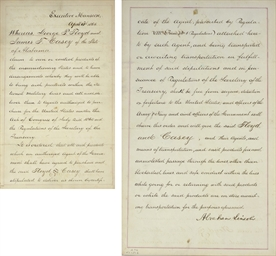 LINCOLN, Abraham. Document sig