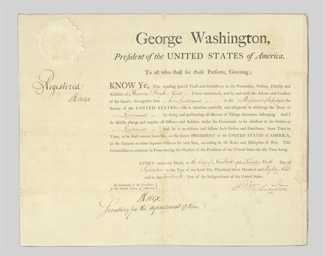 WASHINGTON, George. Partly pri
