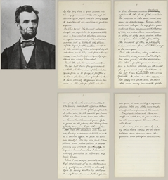 LINCOLN, Abraham (1809-1865).