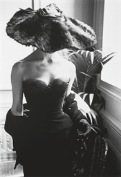 Fur Hat, Dior Dress, 1950s