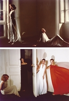 Fashion studies, including Les robes drapées de Madame Grès, French Vogue, 1976