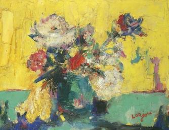 Vase de fleurs sur la table