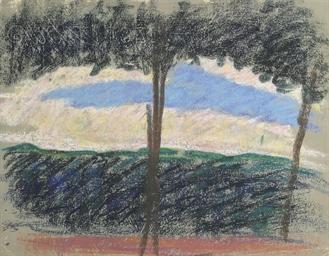 Paysage (recto); Portrait de f