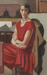 Portrait d'Anne à la robe roug