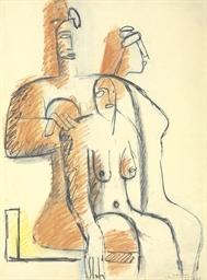 Trois femmes assises