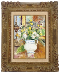 Still life with flowers in a p