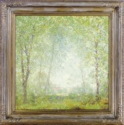 Verdant country landscape