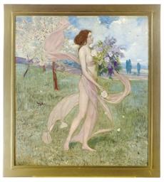 Frühling (Girl among blossomin
