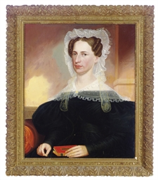 Portrait of a lady with a whit