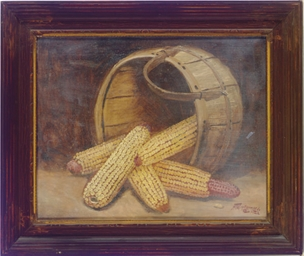 Cornstalks in a basket