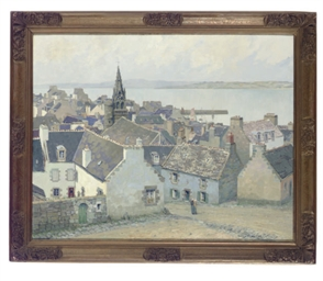 View of a Breton village with