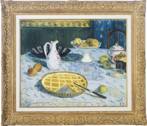 Still life of a breakfast tabl