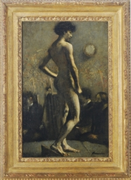 Study of a nude in an art clas
