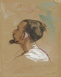 Study of a man seen from behin