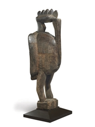 A SENUFO LARGE BIRD FIGURE,