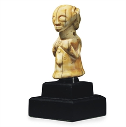 A LUBA IVORY FEMALE FIGURE PEN