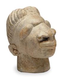 A SAPI SOAPTONE HEAD,