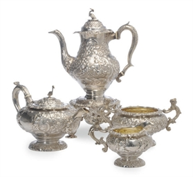 A GEORGE IV SILVER FOUR PIECE