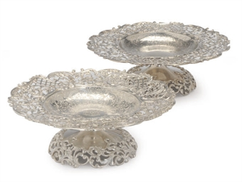 A PAIR OF AMERICAN SILVER RETI