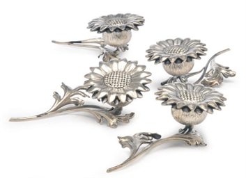 A SET OF FOUR ITALIAN SILVER F