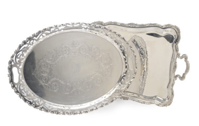 TWO AMERICAN SILVER TWO-HANDLE