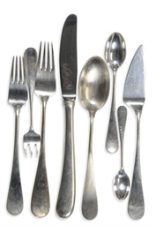 A DANISH SILVER FLATWARE PART