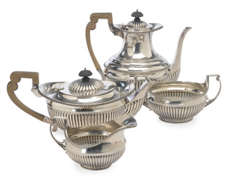 A VICTORIAN FOUR PIECE TEA AND