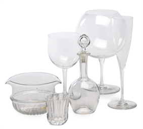 AN ASSEMBLED FRENCH STEMWARE P